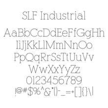 "Load image into Gallery viewer, Rhino Single Line Engraving Font - ""Industrial"""