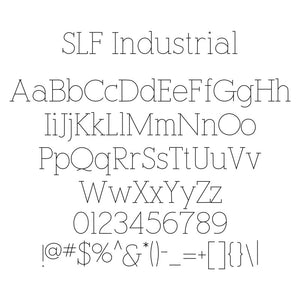 "Rhino Single Line Engraving Font - ""Industrial"""