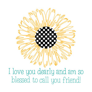 Downloadable SVG File - Sunflower Friend Card
