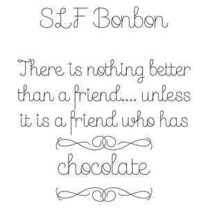 single line font slf bonbon