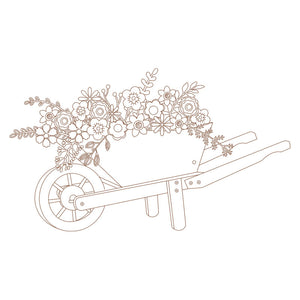 wheelbarrow with flowers for download