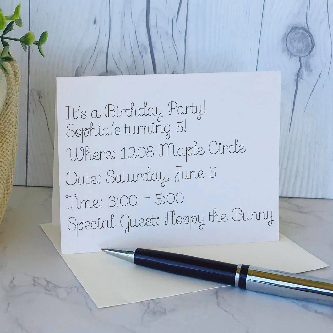 cardmaking single line font for foil quill