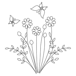 Downloadable SVG File - Floral Flutter
