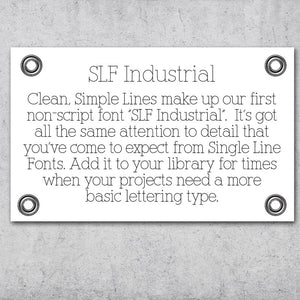 "Single Line Font ""Industrial"""