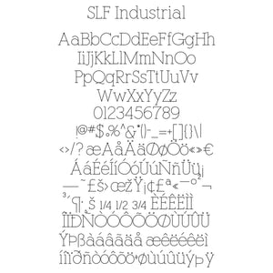 SLF Industrial Engraving font for Rhino 3D software