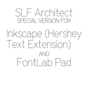 Inkscape Font - SLF Architect