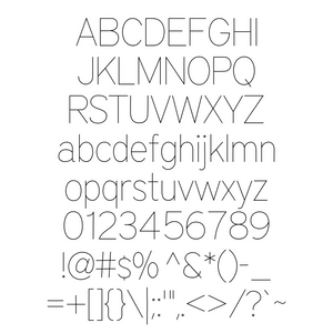 SVG Font - SLF Architect