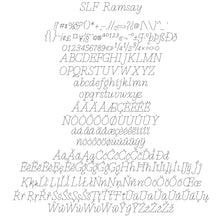 "Load image into Gallery viewer, Single Line Font ""SLF Ramsay"" With Five Widths"