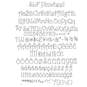 slf pinwheel single line font all characters example fonts for silhouette and cricut