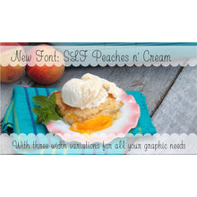 Load image into Gallery viewer, slf peaches n cream single line font