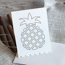 Load image into Gallery viewer, pineapple svg line design for cricut machines