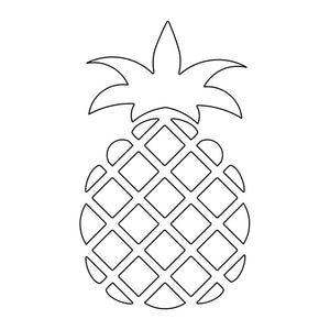 svg vector pineapple for embossing