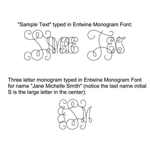 slf entwine single line monogram font demonstration