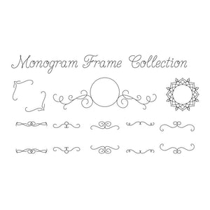 slf single line vine monogram font frames collection