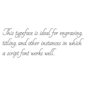 Rhino Single Line Engraving Font - White Linen
