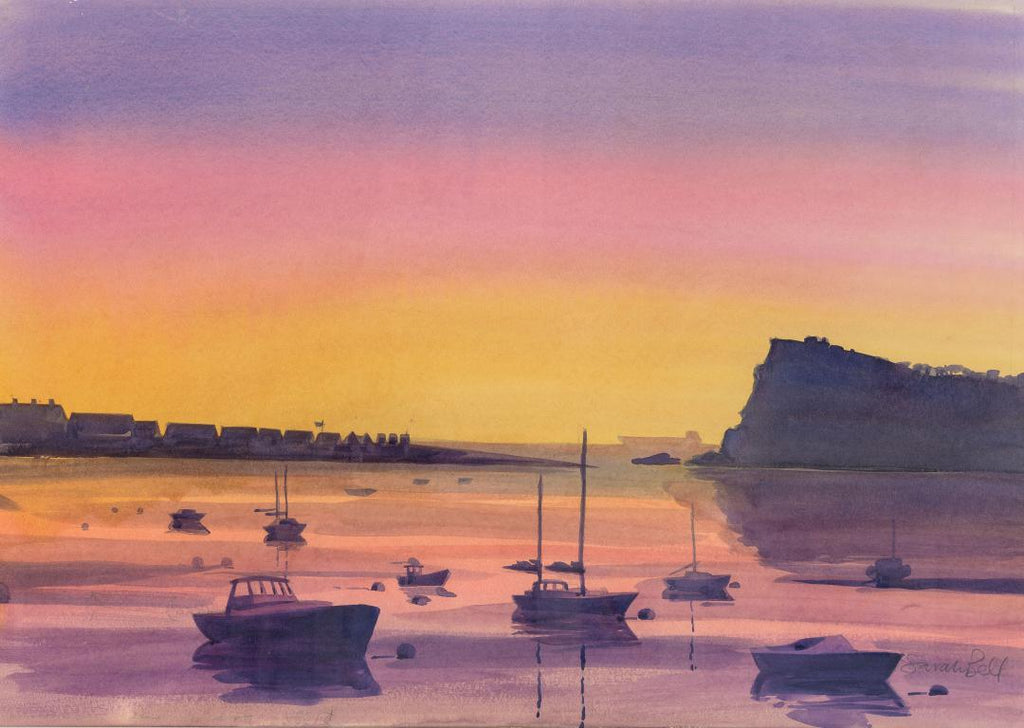 'Shaldon Sunet' Original Watercolour Painting