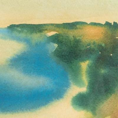 Porth Holland Bay Original Watercolour Painting