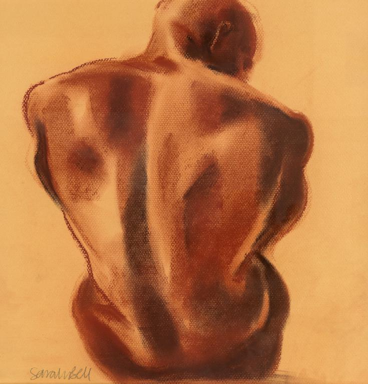 'Male Nude' Original Pastel Painting