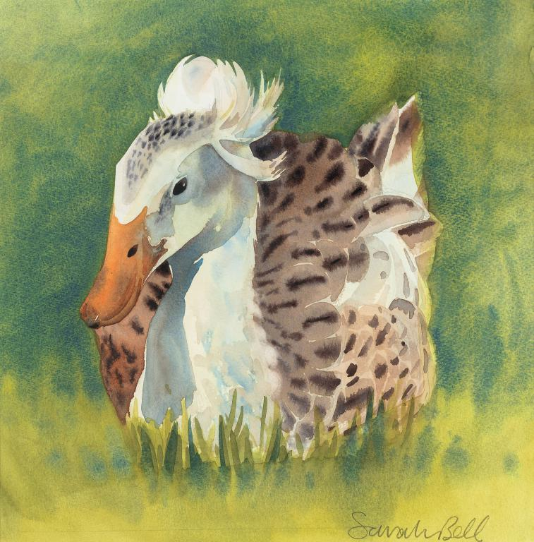 """Amy The Appleyard Duck by Sarah Bell Blank Greeting Card"