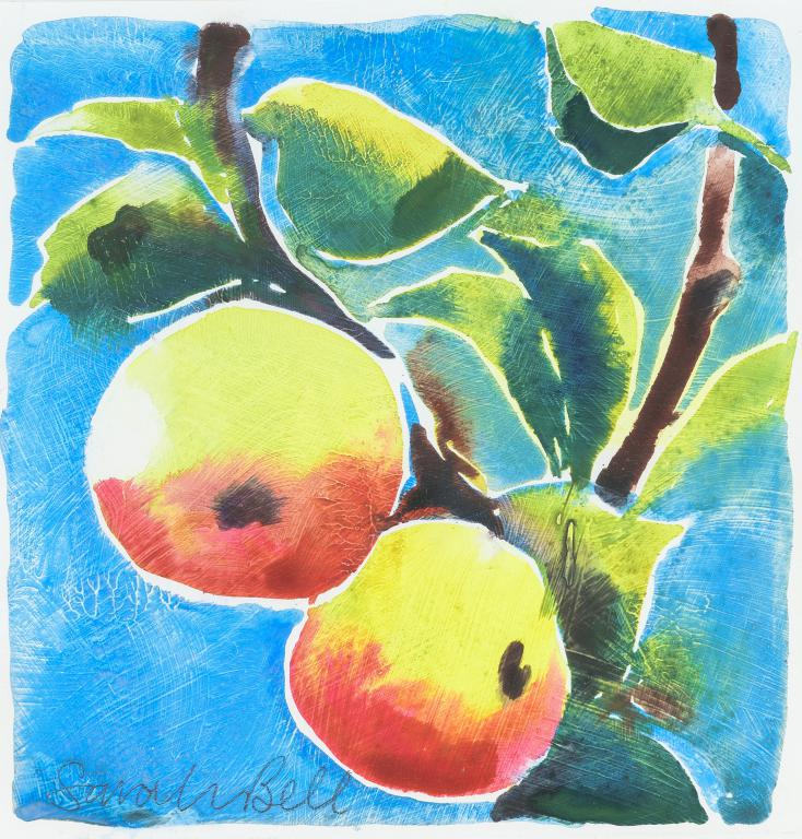 'Tropical Apples 1' Original Watercolour Painting