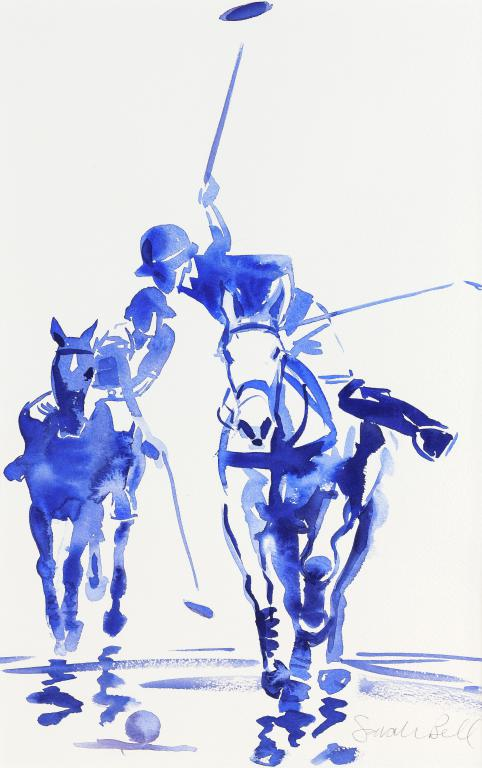 """Polo at Watergate Bay 4"" by Sarah Bell Blank Greeting Card"