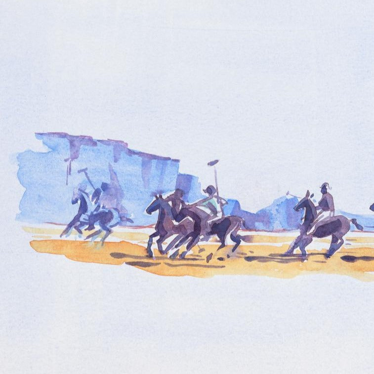 """Game to win Polo match""Original Watercolour by Sarah Bell"