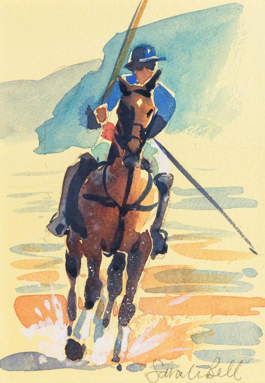 """Polo at Watergate Bay 2"" by Sarah Bell Blank Greeting Card"