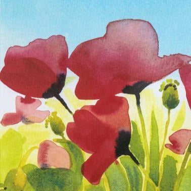"""Poppy Fields""Limited Edition Print by Sarah Bell"