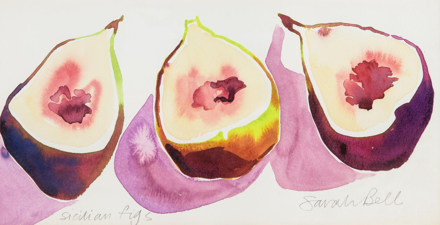"""Sicilian Figs"" Original Watercolour by Sarah Bell"