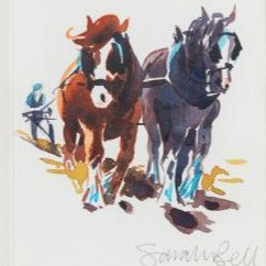"""Shire Horses"" By Sarah Bell"