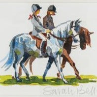 """Two Riders on Ponies"" By Sarah Bell"