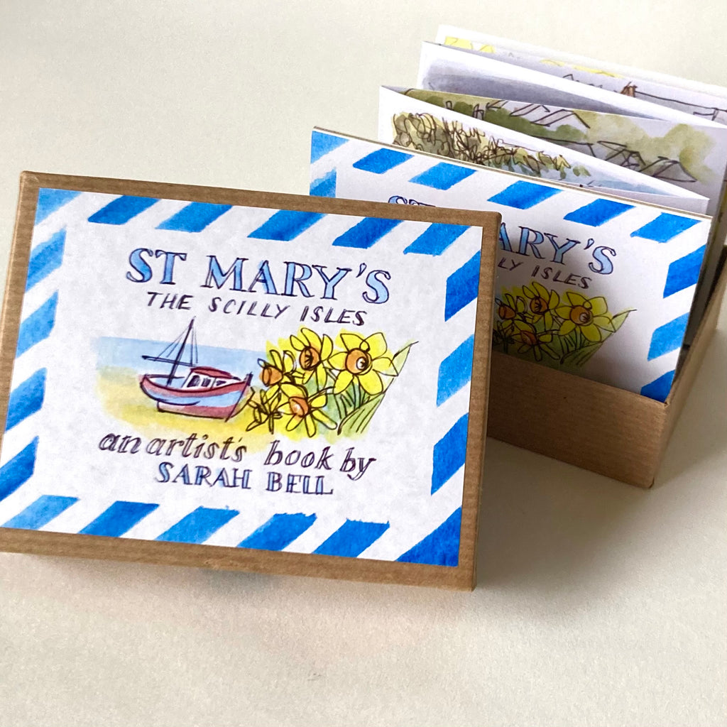"""St Mary's"" The Scilly Isles an artist's Tiny book by Sarah Bell"
