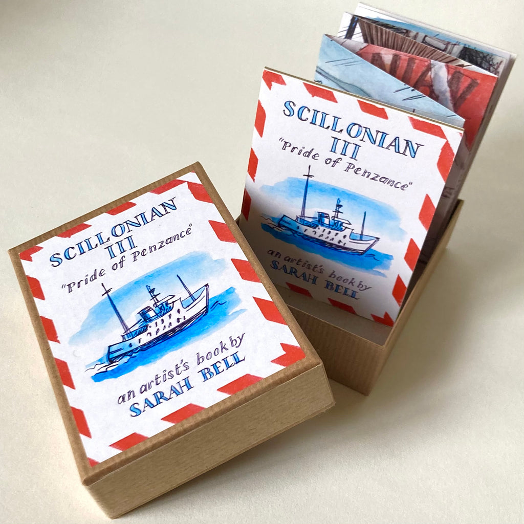 "Scillonian 111 ""Pride of Penzance"" an artist's Tiny book by Sarah Bell"