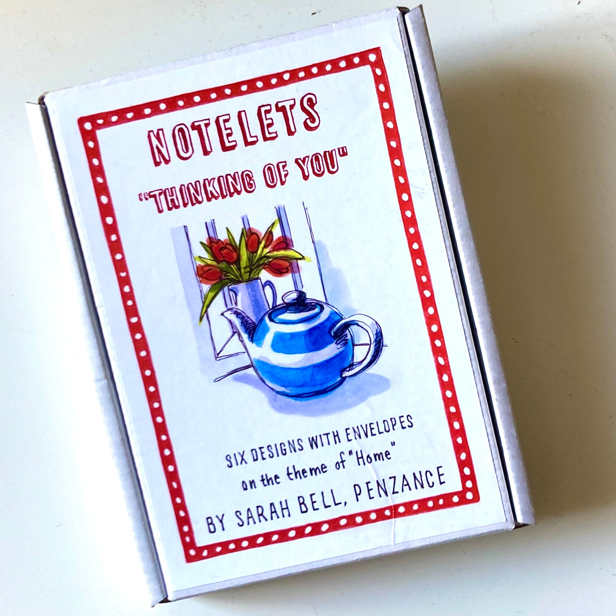 Box of 6 Notelets (Thinking of You) by Sarah Bell