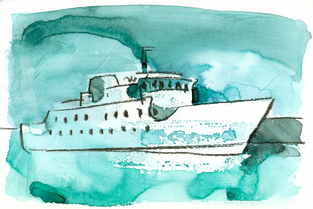 """Scillonian  by Sarah Bell Blank Greeting Card"