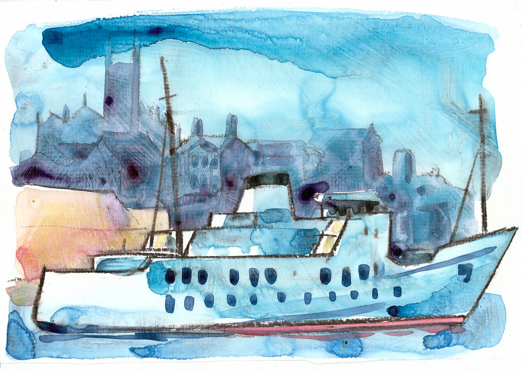 """Scillionian1"" by Sarah Bell Blank Greeting Card"