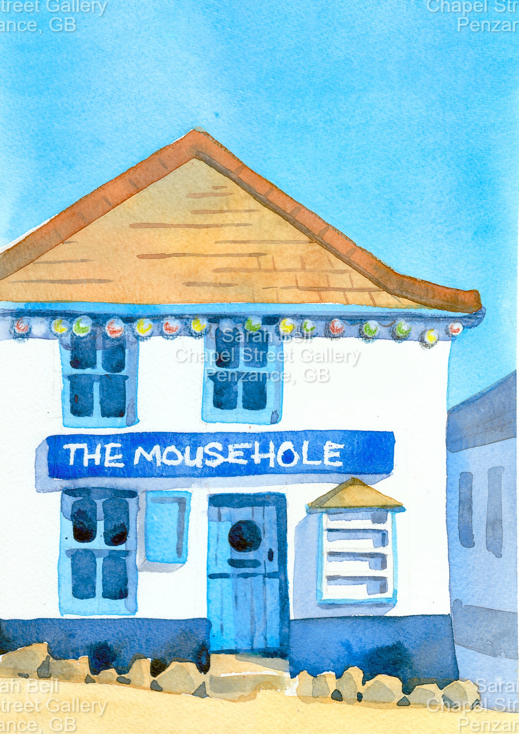 """Mousehole"" by Sarah Bell Blank Greeting Card"
