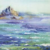 """St Michaels Mount"" by Sarah Bell Print"
