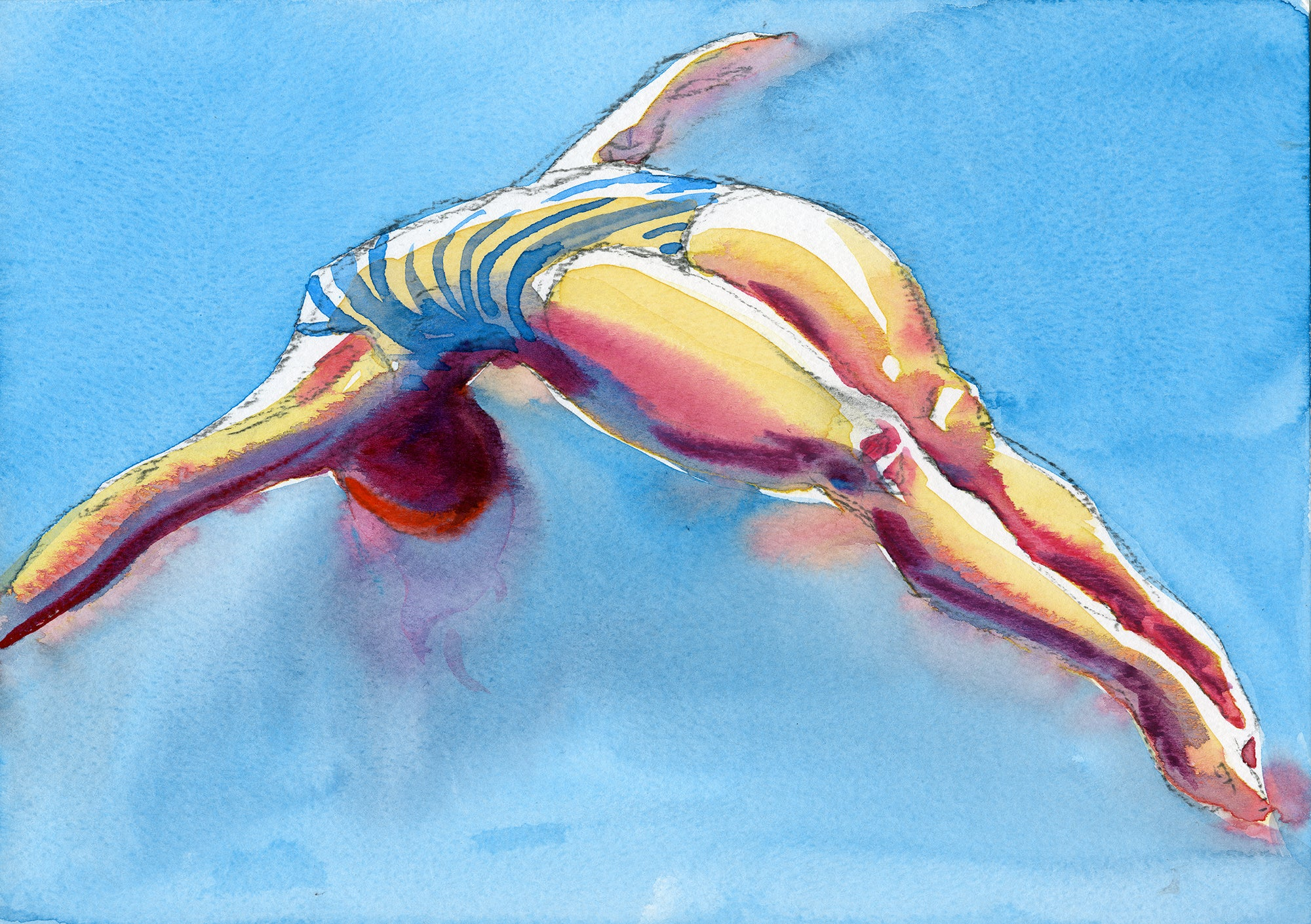 """Lido Diver 2 1930's"" by Sarah Bell Blank Greeting Card"