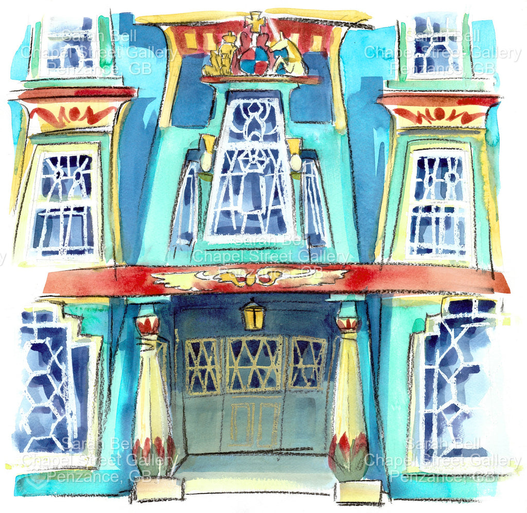 'The Egyptian House' Original Watercolour Painting