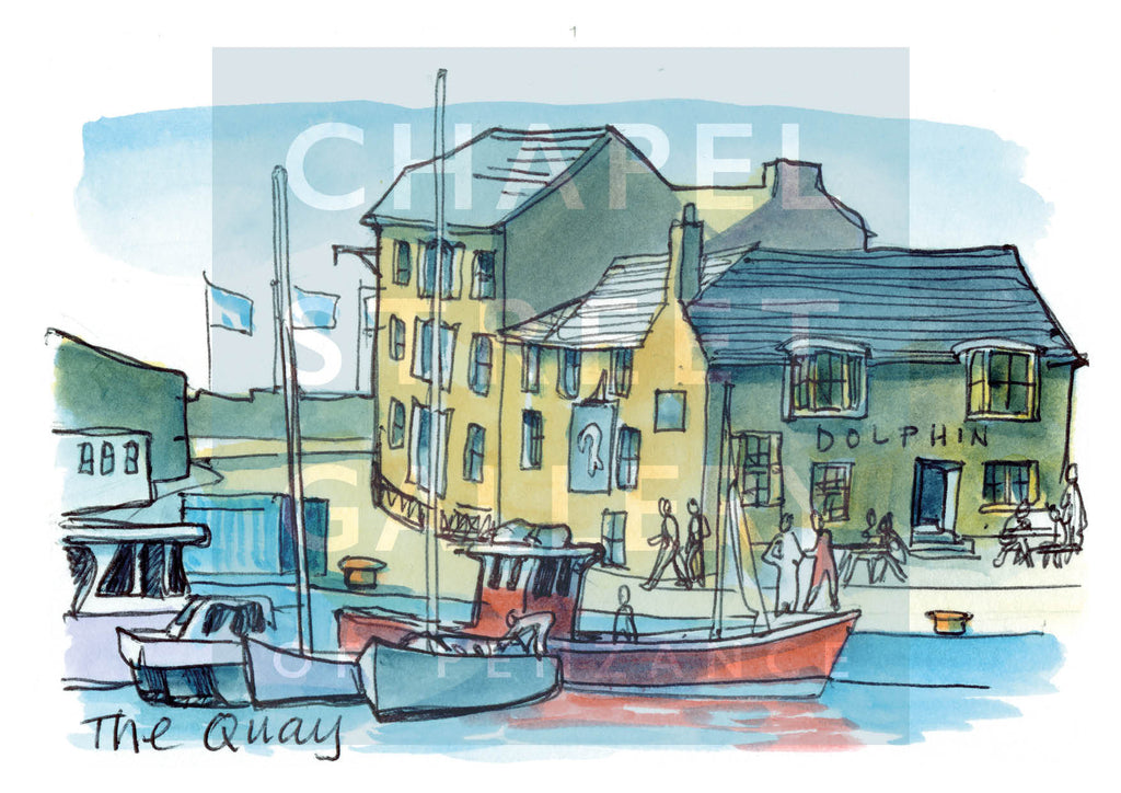 The Quay  by Sarah Bell Art card