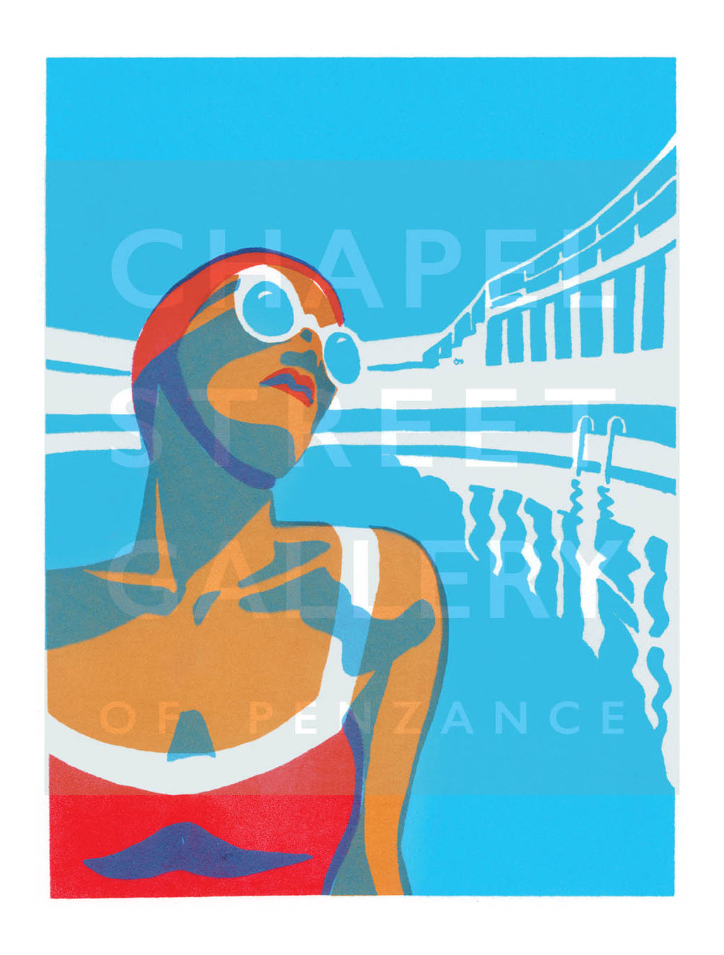 'Lido Glamour  1' Signed Sarah Bell A4 Giclee Print