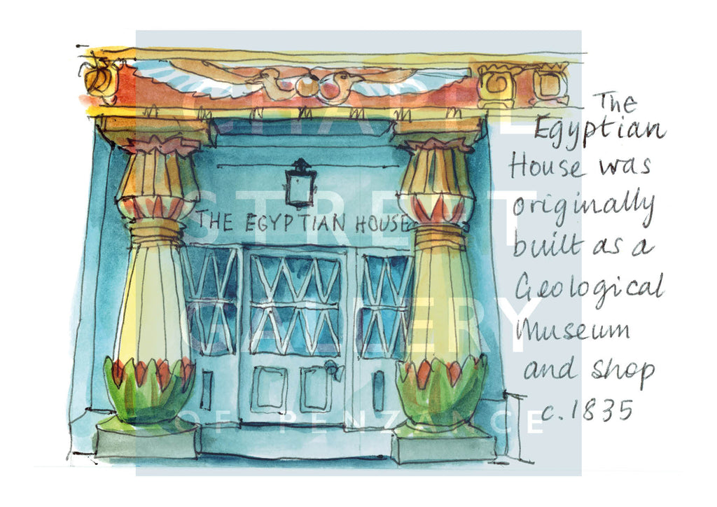 The Egyptian House by Sarah Bell Art card