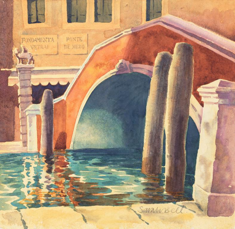 """Ponte Fondemta "" Original Watercolour from Venice by Sarah Bell"