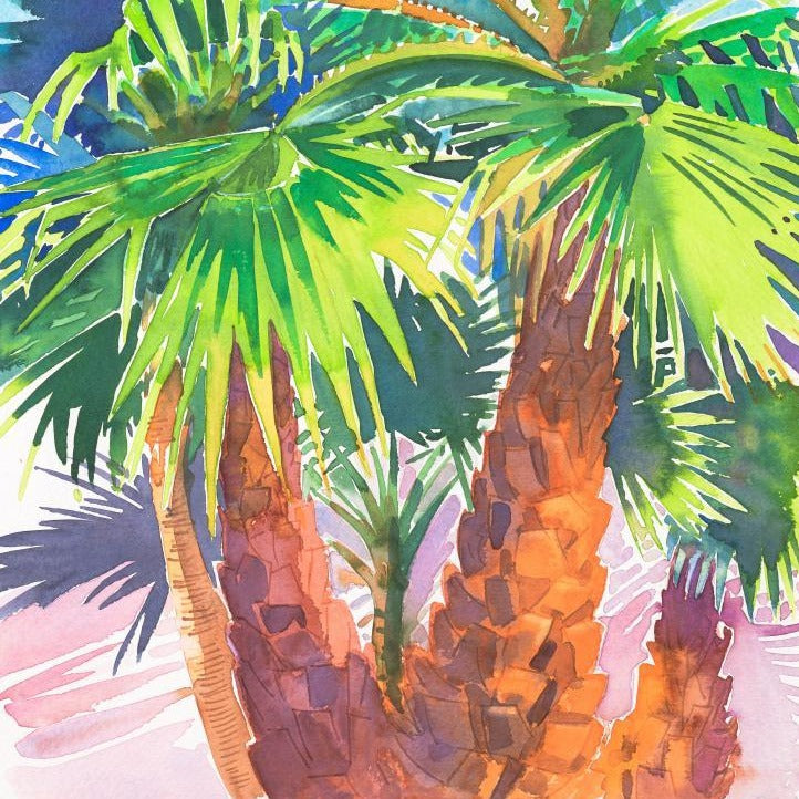 """Palm Trees ""Andalucia Original Watercolour by Sarah Bell"