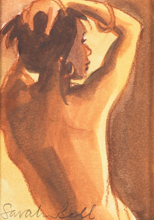 """Nude 5 ""by Sarah Bell-Original Watercolour and Pastel on Tinted Paper"