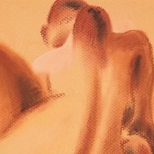 """Nude Pastel ""by Sarah Bell-Original Pastel on Tinted Paper"