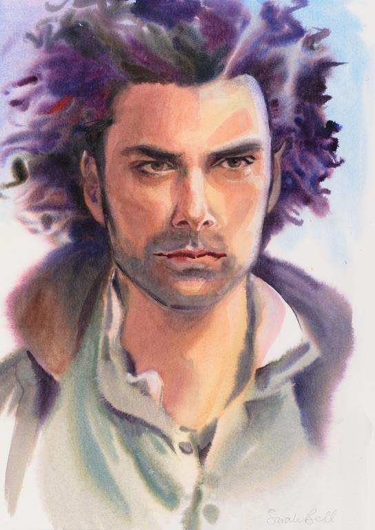 """Poldark"" by Sarah Bell Blank Greeting Card"
