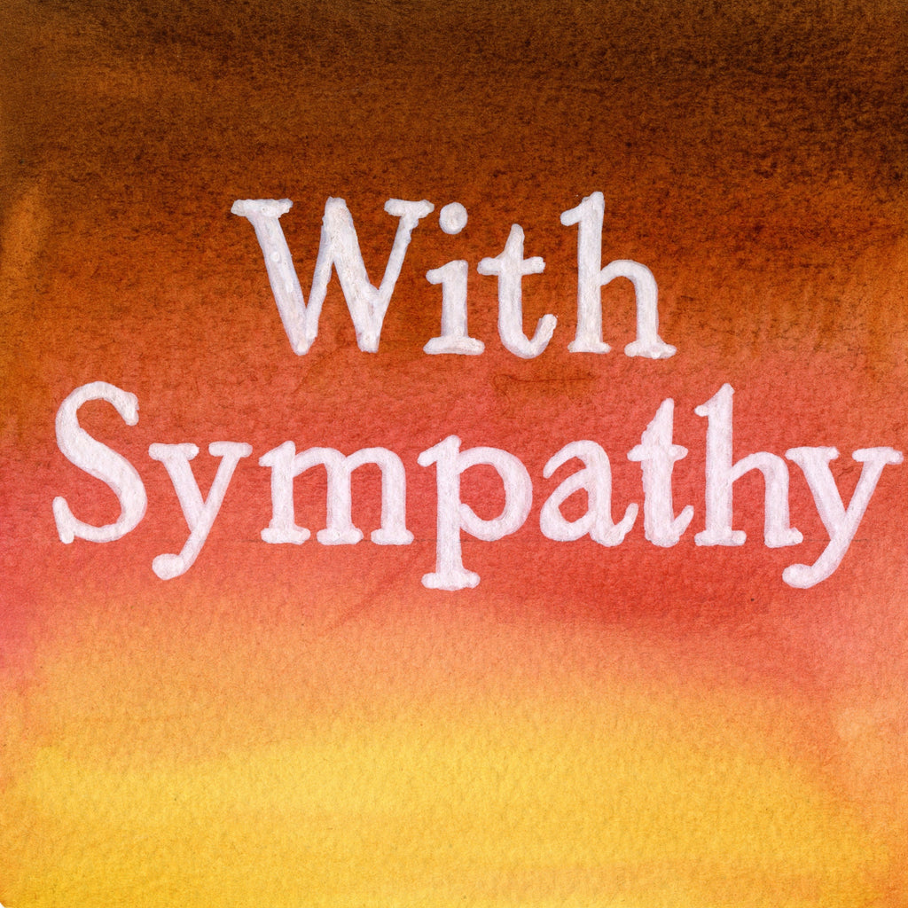 """With Sympathy"" In Cinnamon Amber Blush Colour Wash Series AB16"
