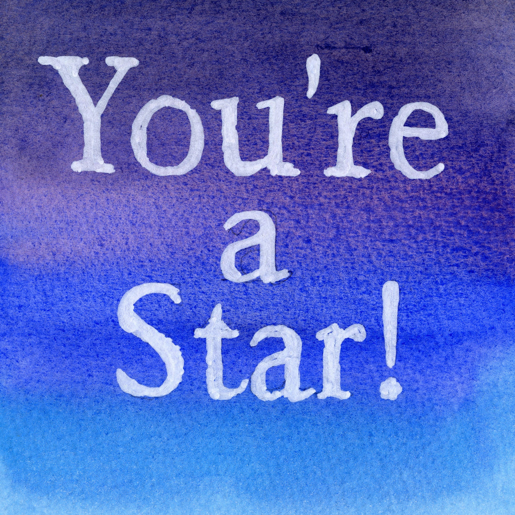 """Your A Star"" In Sapphire Colour Wash Series AB4"